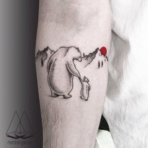 Polar Bears Tattoo Cute
