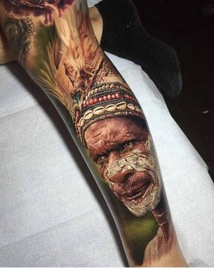 Realistic Indian Tattoo Sleeve