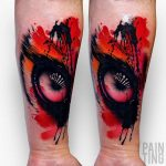 real eye tattoo watercolor