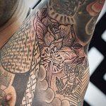 Religious Armpit Tattoo