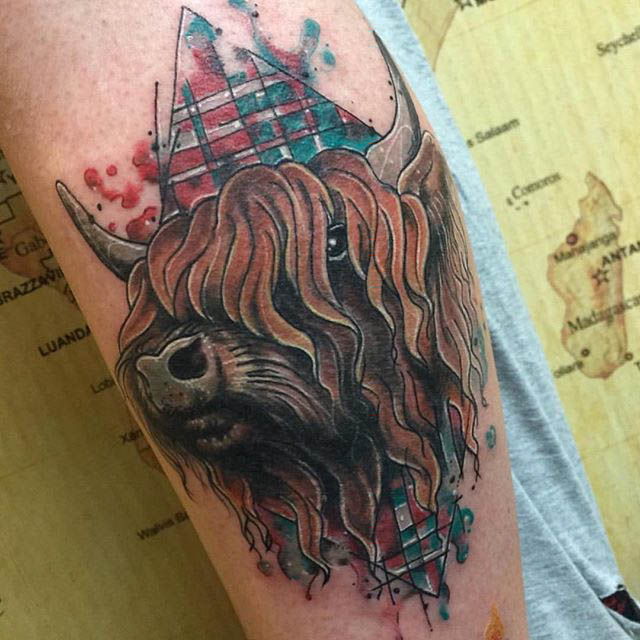 Scottish Tattoo Buffalo by Clare La-La Lambert