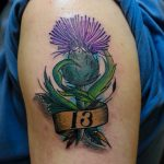 Scottish Thistle Tattoo