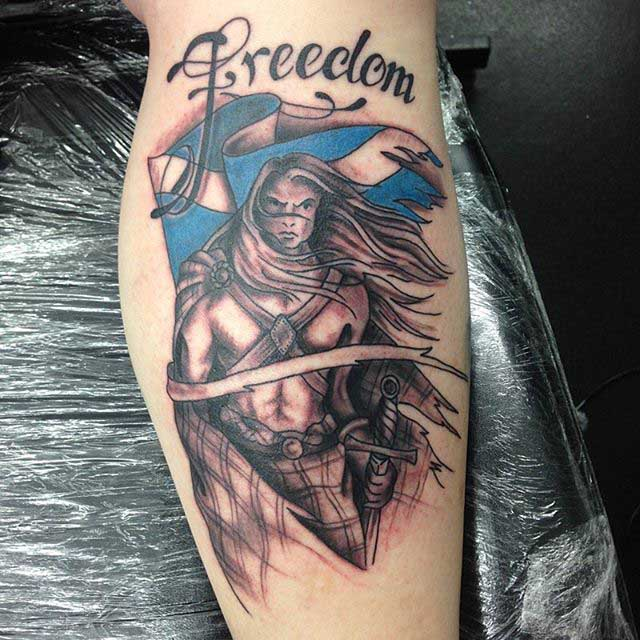 Scottish Warrior Tattoo by Carol Cannon