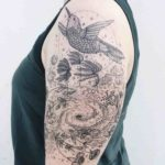 shoulder tattoo bird