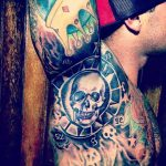 Skull Armpit Tattoo