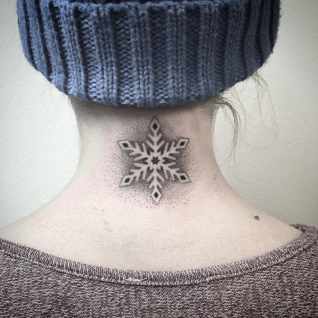 Snowflake Tattoo by les_petits_points_de_fanny