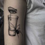 Spider and Crying Eye Tattoo
