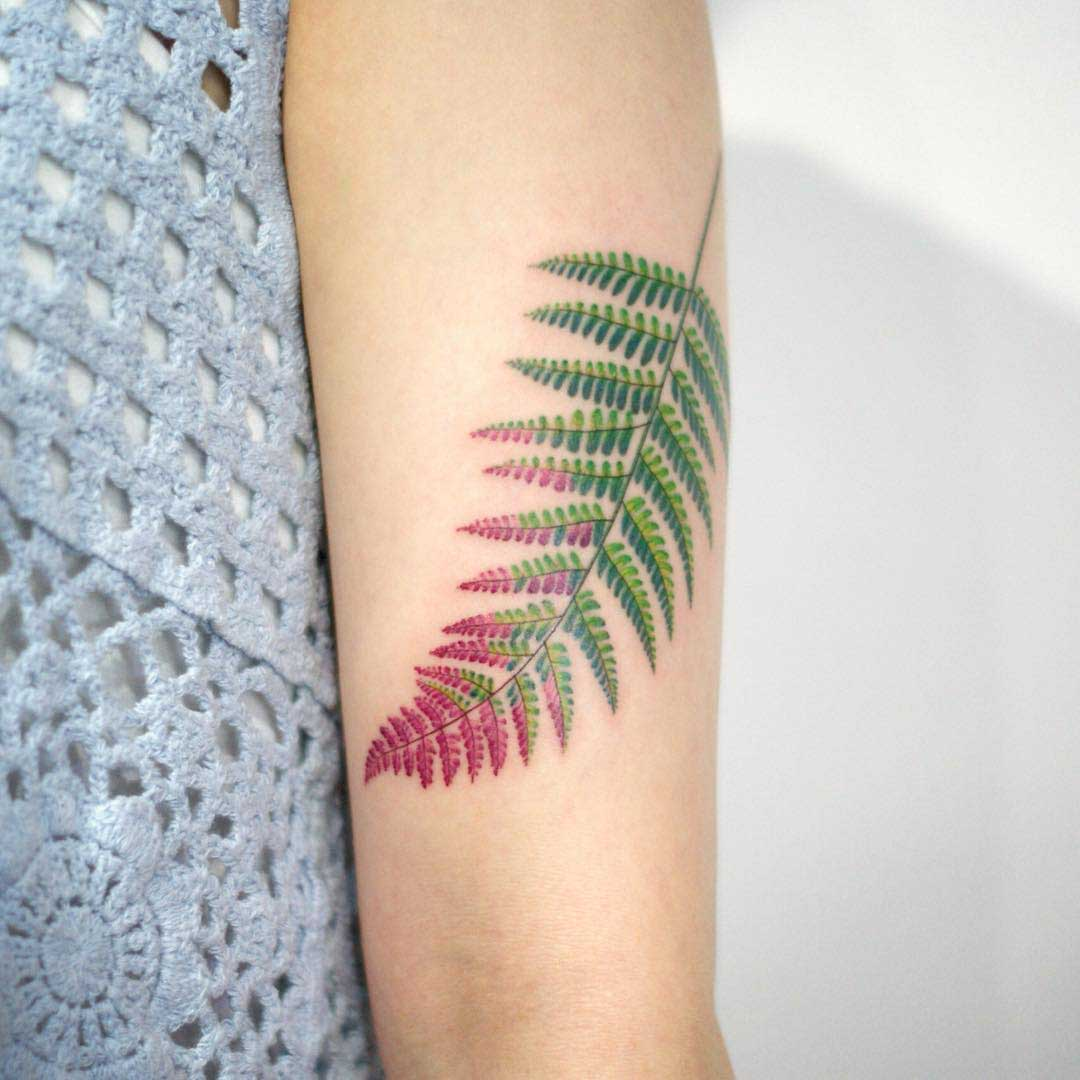 tattoo fern leaf