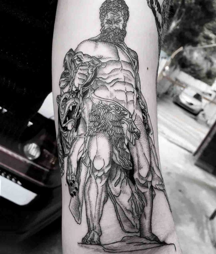 arm tattoo hercules