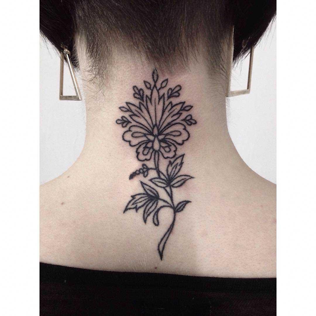 Tattoo on Nape by laceylawtattoo