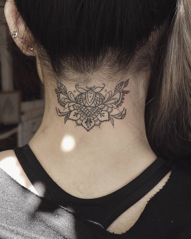 Tattoo on Nape of Neck by indigo_evolution