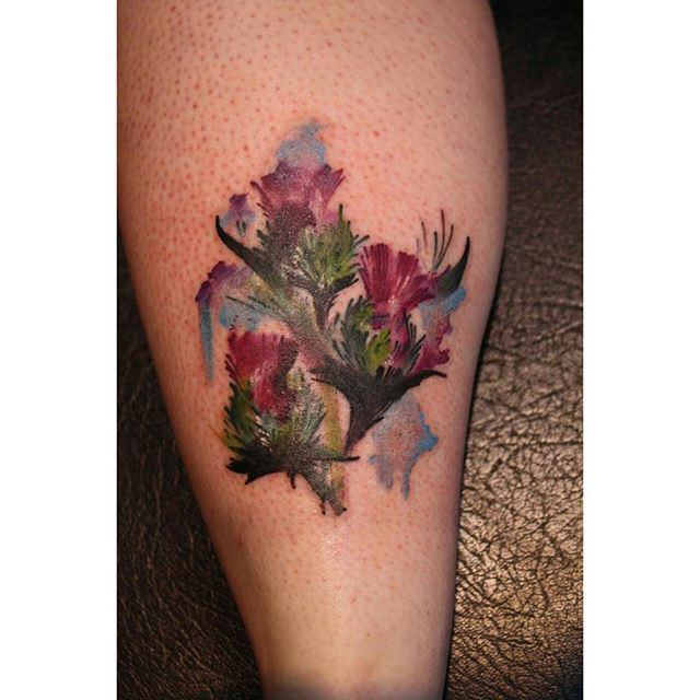 Thistle Tattoo Designs by charlotte ross