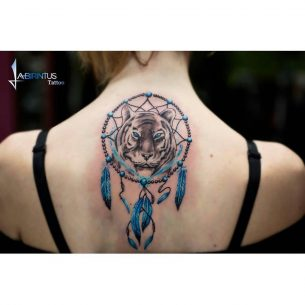 Tiger Dreamcatcher Tattoo