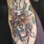 Tiger Tattoo on Armpit