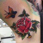 Traditional Armpit Tattoo