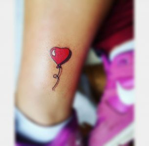 Balloon Heart Small Tattoo