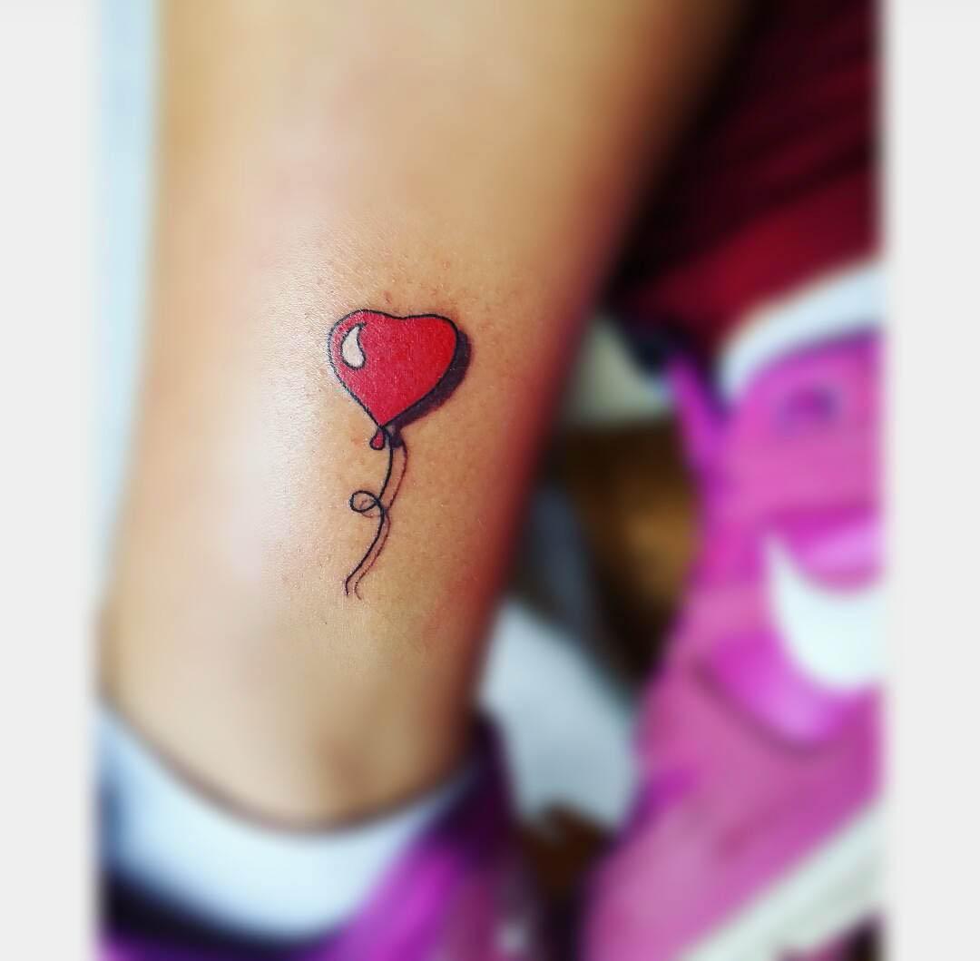 small tattoo balloon