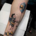 Bat Kid Tattoo on Arm