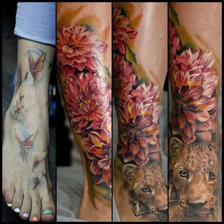 ankle to foot tattoo cover-up