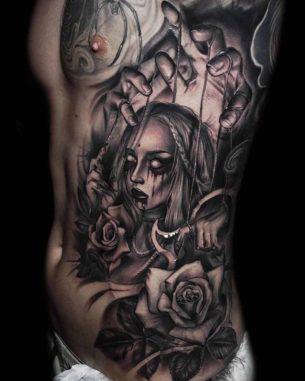 Evil Dark Puppet Tattoo