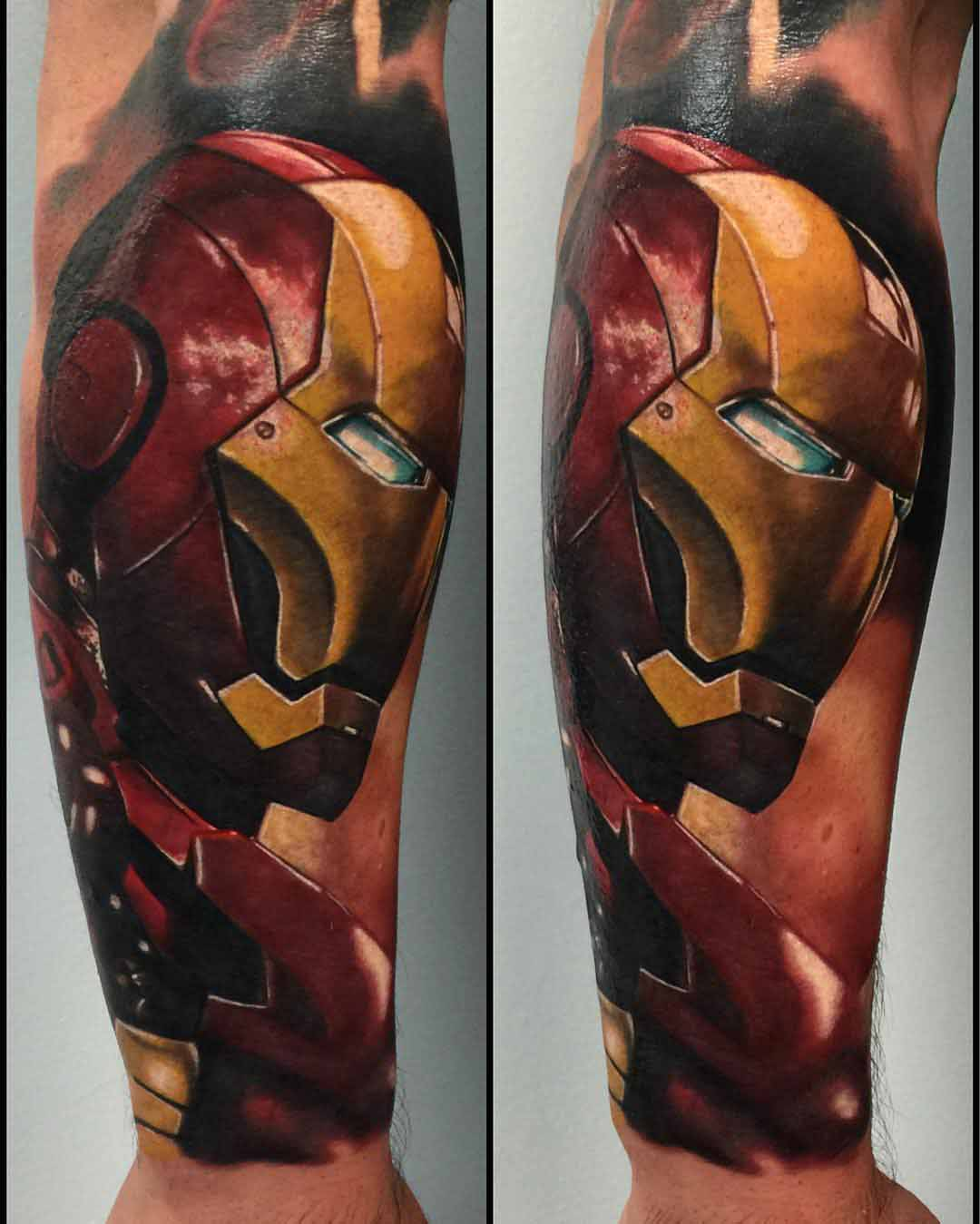 Tattoo ironman head