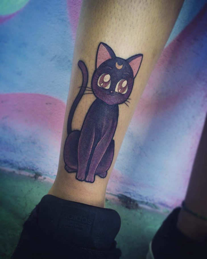 sailormoon tattoo cat Luna