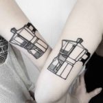 Moka Pot Couple Tattoos