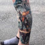 Rachet and Clank Tattoo on Leg