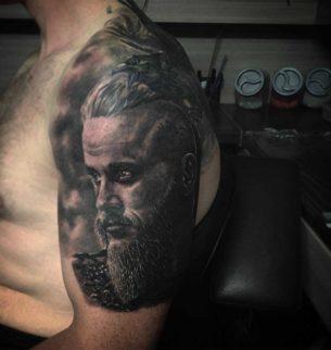 Ragnar Lodbrok Tattoo on Shoulder