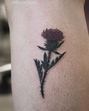Cool Scottish Thistle Tattoo