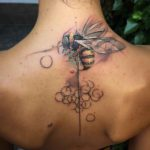 Wasp Tattoo on Lower Neck