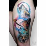 Wolf Bear Fox Tattoo
