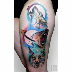 Wolf Bear Fox Tattoo