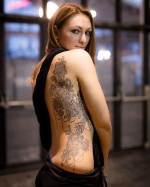 Women Side Tattoo