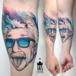 Albert Einstein Tattoo Design on Arm