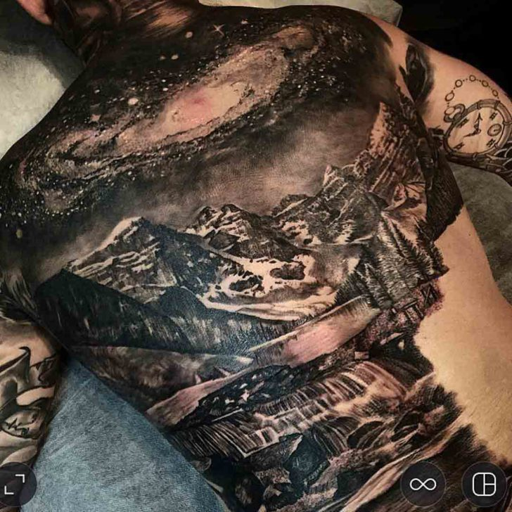 Amazing Landscape Tattoo On Back Best Tattoo Ideas Gallery
