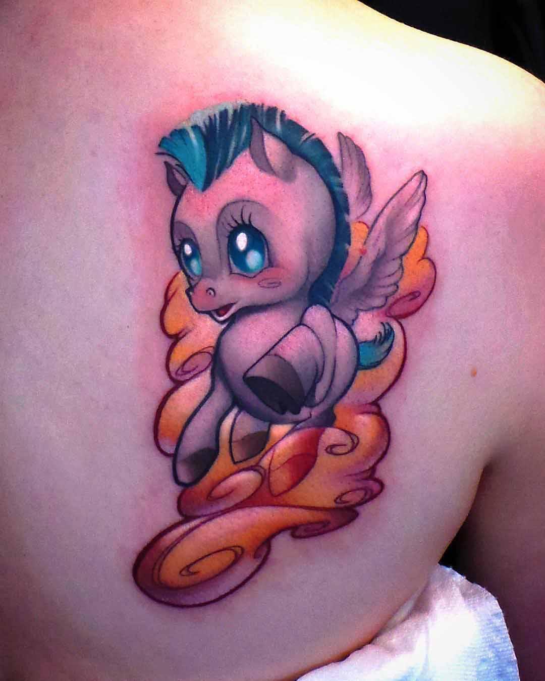hercules baby pegasus tattoo