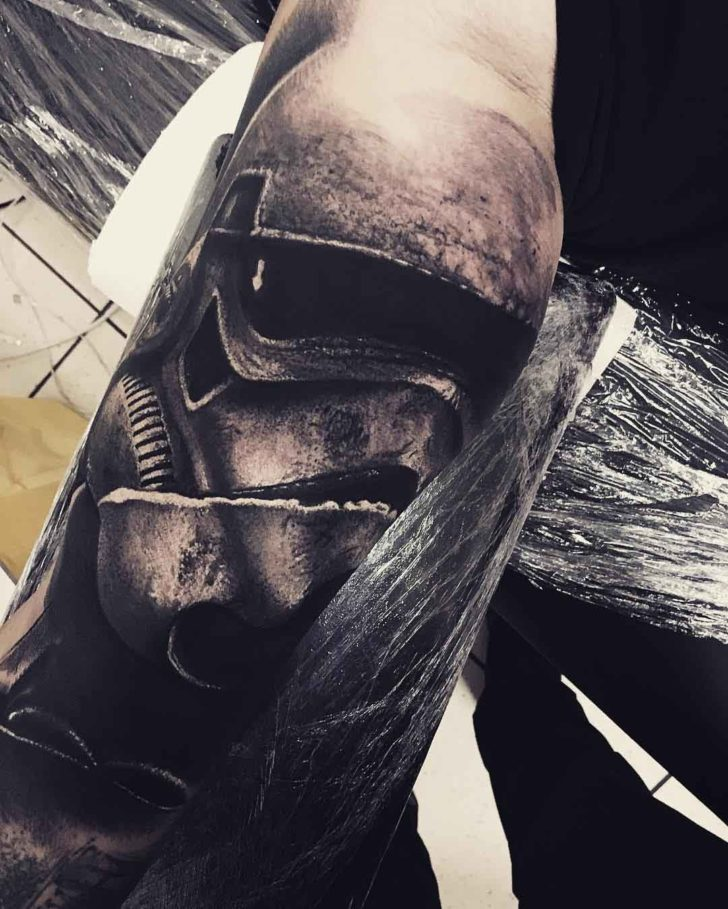 star warsa tattoo realistic stormtrooper