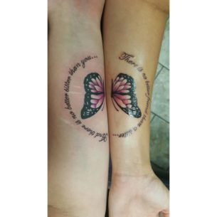 Butterfly Sister Tattoos
