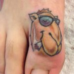 Camel on Toe Tattoo by Chad Tekone