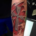 Celtic Cross Forearm Tattoo by Ryan Cochran