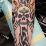 Celtic Cross Skull Tattoo by tony666c