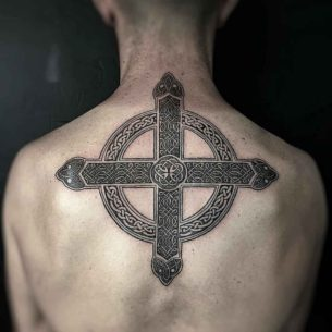 Celtic Cross Tattoo Back