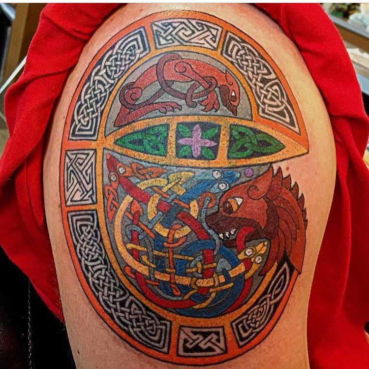 Celtic Dragon Tattoo by Scottie DeVille