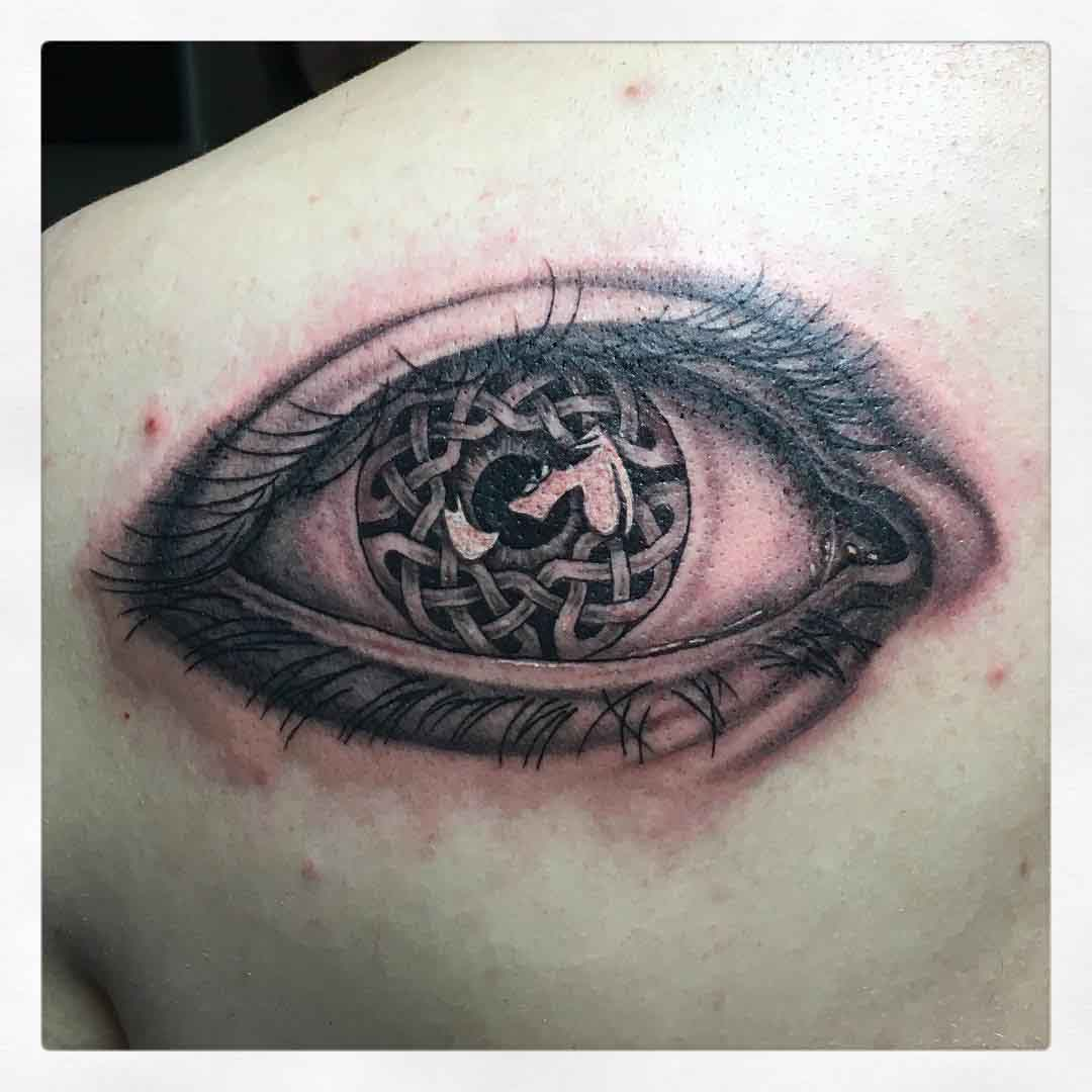 Celtic Eye Tattoo by mirjamschaerer_tattoo