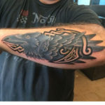 Celtic Raven Tattoo on Forearm by Jason Anthony