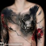 Chest Skull Tattoo Trash Polka