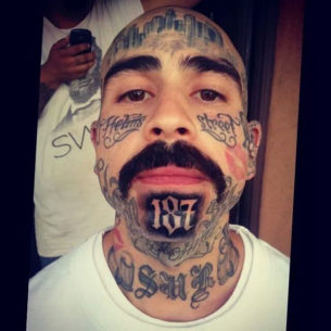 Chicano Chin Tattoo