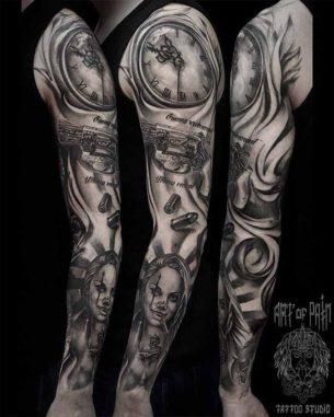 Chicano Sleeve Tattoo Designs