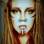 Chin Tattoo Girl